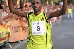 Isaac Macharia of Kenya wins the 2008 Vidovdan 10k (organsiers)