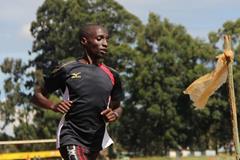 Bernard Koech in Kenya ahead of the 2013 TCS Amsterdam Marathon (Losse Veter / organisers)