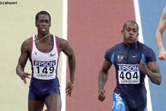 Lisbon 2001 Men's 200m final (© Allsport)