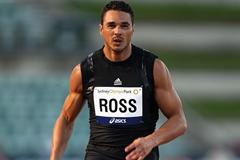 Joshua Ross wins his seventh national 100m title (Getty Images)