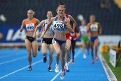 Elena Mirela Lavric of Romania wins the Women's 800m (Getty Images)