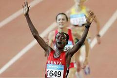 Isabella Ochichi - 5000m gold - Melbourne 2006 (Getty Images)