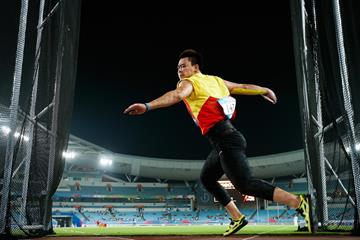 China's Chen Yulong in the discus (Getty Images)
