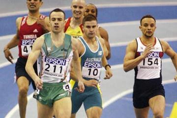 Paul McKee of Ireland winning the men's 400m semi final (Getty Images)