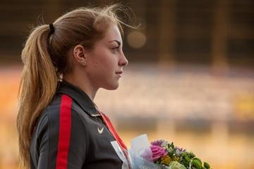 Shot put winner Alina Kenzel at the IAAF World U20 Championships Bydgoszcz 2016 (Getty Images)