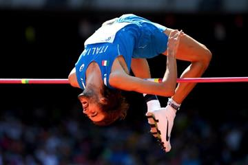 Gianmarco Tamberi in high jump qualifying at the IAAF World Championships, Beijing 2015 (Getty Images)