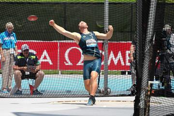 Robert Harting at the 2014 IAAF Diamond League meeting in New York (Victah Sailer)