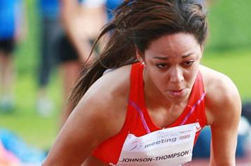 Katarina Johnson-Thompson, the Day 1 leader in Kladno (Jan Kucharcik)