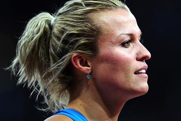 Ukraine's Natallia Dobrynska at the London 2012 Olympic Games (Getty Images)