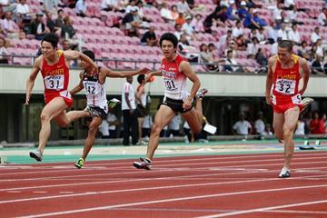 China's Su Bingtian wins the 100m (Yohei KAMIYAMA/Agence SHOT)