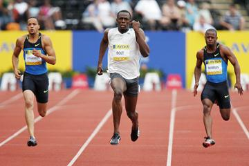 Dominating 200m victory in London for Usain Bolt in 2008 (Getty Images)