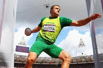 Virgilijus Alekna of Lithuania competes in the Men's Discus Throw qualification on Day 10 of the London 2012 Olympic Games at the Olympic Stadium on August 6, 2012 (Getty Images)