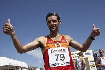 Francisco Javier Fernandez of Spain celebrates his victory (Getty Images)