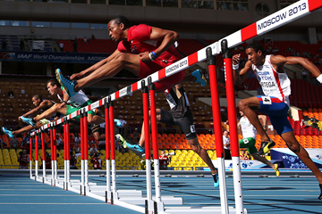 Aries Merritt in the 110m hurdles at the IAAF World Championships (AFP / Getty Images)