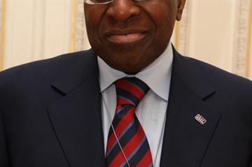 IAAF President Lamine Diack supports the Tck Tck Tck campaign (Philippe Fitte)