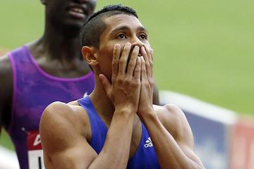 South Africa's Wayde van Niekerk after his victory (Getty Images)