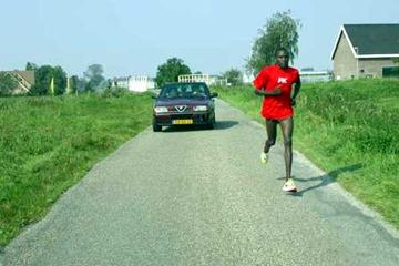 Francis Kibiwott (KEN) training near Nijmegen, The Netherlands (A Million Dreams)