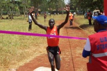 Ayeko Thomas takes the 2012 Ugandan XC title (Daniel Senfuma)
