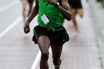 Ilham Tanui Özbilen en route to a 1:44.25 Turkish record in Ninove (Johnny De Ceulaerde)