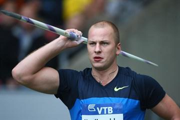 Vadims Vasilevskis of Latvia wins the javelin (Getty Images)