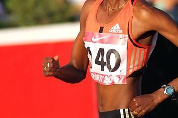 Janet Jepkosgei of Kenya on her way to 1:56 clocking in Rieti (Lorenzo Sampaolo)