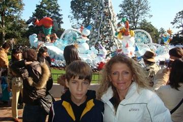 Constantina Dita and her son Rafael at Disneyworld Tokyo (Freelance)