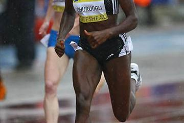 Christine Ohuruogu in a very wet Gateshead (Getty Images)