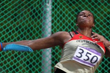 Shanice Craft of Germany in action at the Youth Olympic Games in 2010 (Getty Images)