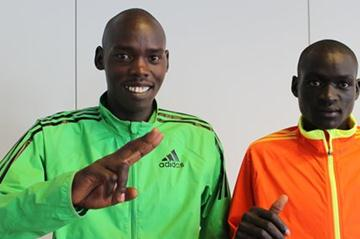 Denis Koech and Wilson Kiprop in Berlin (Organisers)