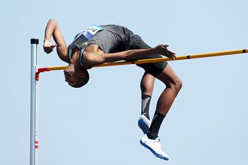 Mutaz Essa Barshim in action in the high jump (Getty Images)