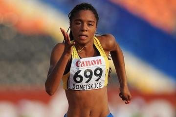 Swedish sprinter Irene Ekelund at the 2013 World Youth Championships (Getty Images)