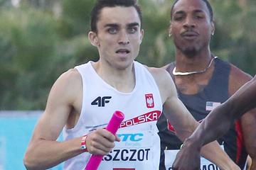 Adam Kszczot in the 4x800m at the IAAF World Relays, Bahamas 2014 (Getty Images)