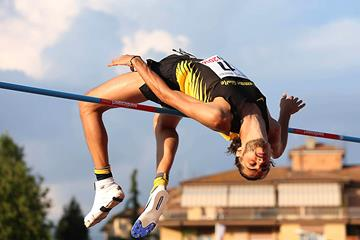 Gianmarco Tamberi at the 2016 Italian Championships (Giancarlo Colombo / FIDAL)