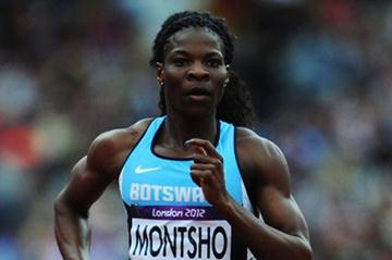 Amantle Montsho of Botswana competes in the Women's 400m Heats on Day 7 of the London 2012 Olympic Games at Olympic Stadium on August 3, 2012 in London, England (Getty Images)