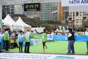 Kenya's Julius Maisei wins at the 2013 Standard Chartered Hong Kong Marathon  (organisers)