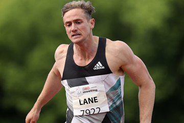John Lane in the decathlon 400m at the IAAF Combined Events Challenge meeting in Kladno (Jan Kucharcik)