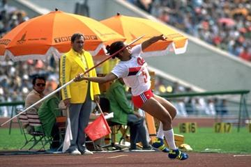 Maria Colon throwing for gold at the 1980 Olympic Games in Moscow (Getty Images)