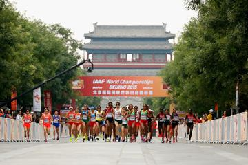 The start of the women's marathon at the IAAF World Championships, Beijing 2015 (Getty Images)