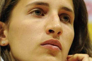 Alessia Trost of Italy at the IAAF Press Conference for the World Junior Championships in Barcelona (Getty Images)