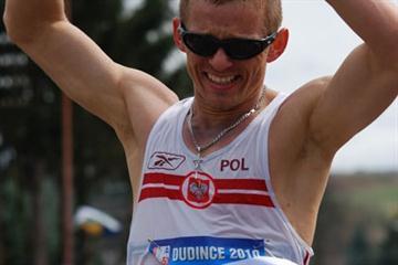 Poland's Rafal Augustyn wins the 50km in the 2010 Race Walking meeting in Dudince, Slovakia (Rastislav Hrbáček)