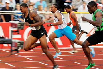 USA's David Oliver in action at the IAAF Diamond League meeting in Stockholm (Hasse Sjogren)