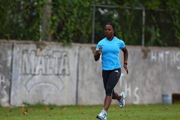 Veronica Campbell-Brown training at home (Getty Images)
