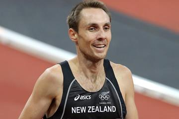 Nick Willis after competing in the 1500m heats at the London 2012 Olympic Games (Getty Images)