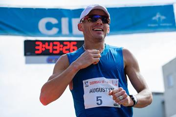 Rafal Augustyn at the 2016 Dudinska 50 (Pavol Uhrin / Fotosport)