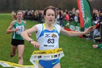 Stephanie Twell takes a one second victory in Antrim (Mark Shearman)