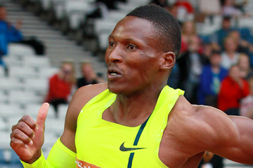 Botswana's Isaac Makwala in action in the 400m (Victah Sailor)
