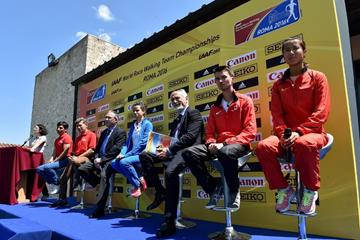 The press conference for the IAAF World Race Walking Team Championships Rome 2016 (Getty Images)