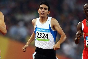 Mohammad Al-Azemi in the Beijing Olympic 800m heats (Getty Images)