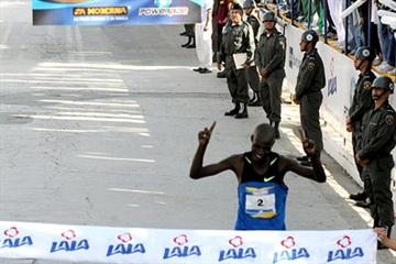 Kenya's Hillary Kimaiyo wins the 23rd LALA International Marathon in Torreon, Mexico in 2:08:17 (organisers)