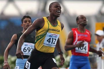Dexter Lee of Jamaica wins the 100m final (Getty Images)